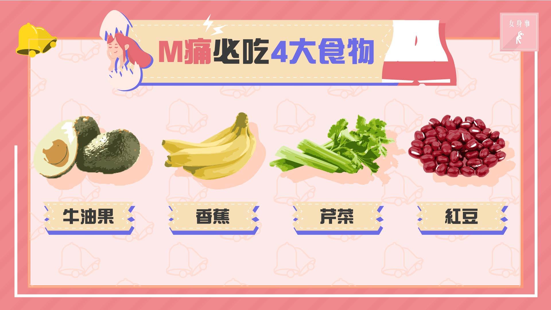 【女士福音】4大舒緩M痛食物