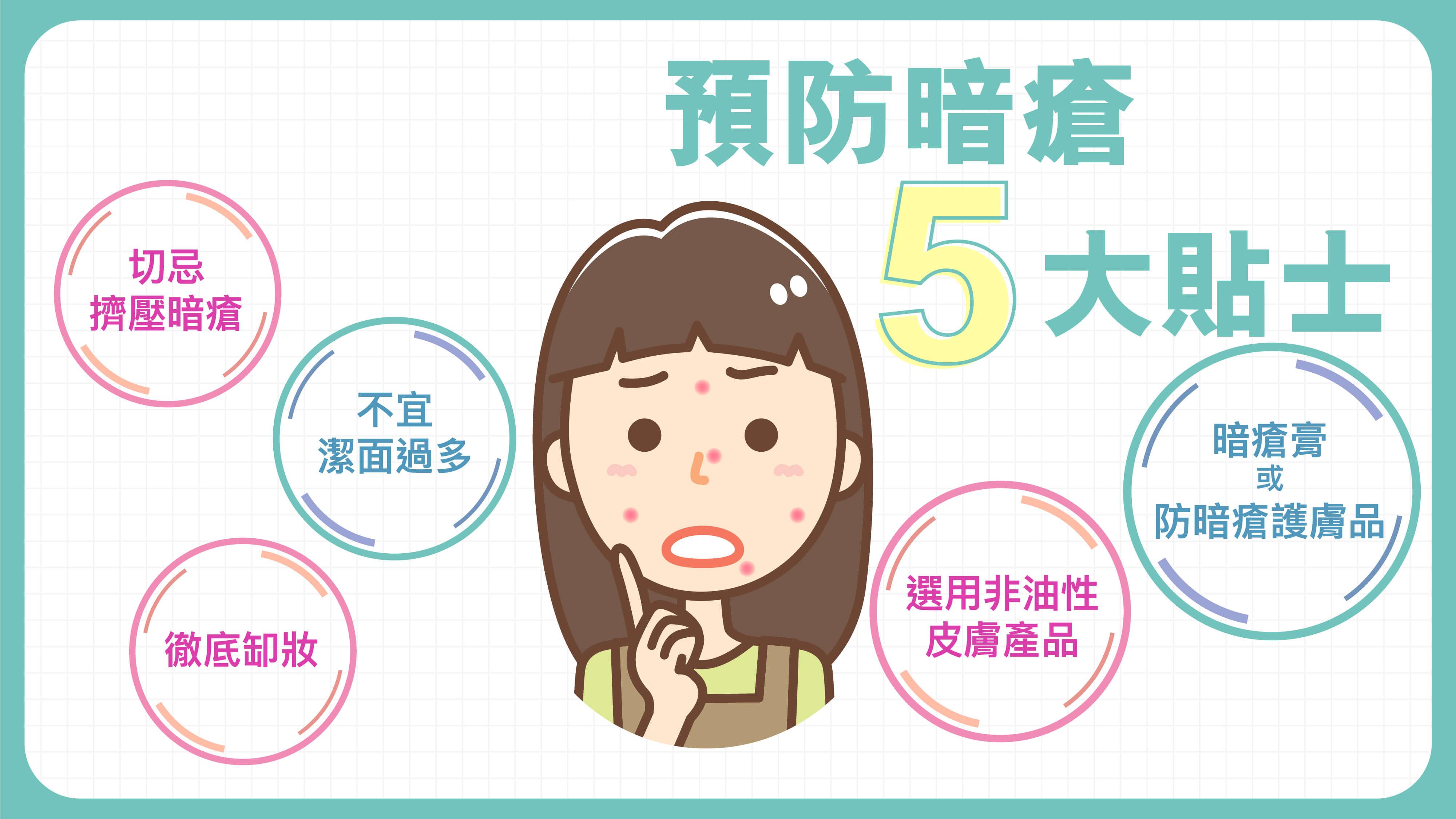 【預防暗瘡5大貼士】